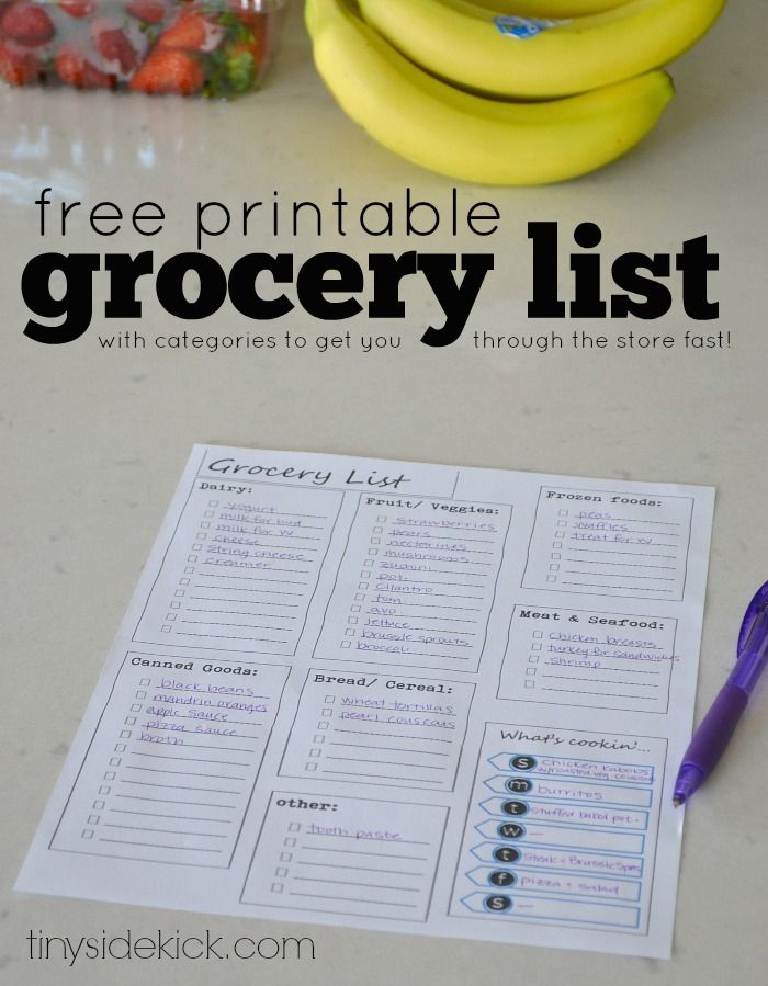 Free Printable Grocery List and Meal Planner {back to reality after vacation}  #freeprintable #mealplanning #printablegrocerylist