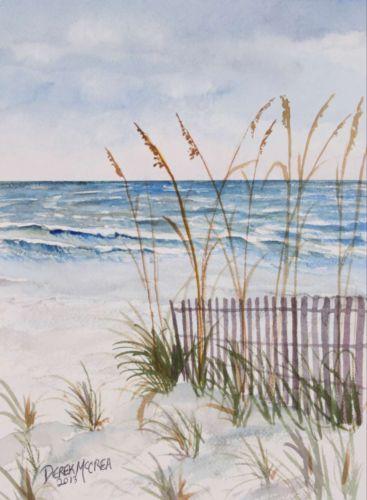 anna maria Florida beach watercolor painting art print