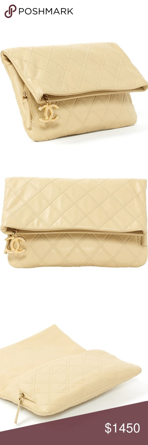 Beige Plain Leather CHANEL Clutch Bag Vintage beige Plain Leather CHANEL Clutch bag   Vintage - Super Rare 100% Authentic, serious inquiries only CHANEL Bags Clutches & Wristlets
