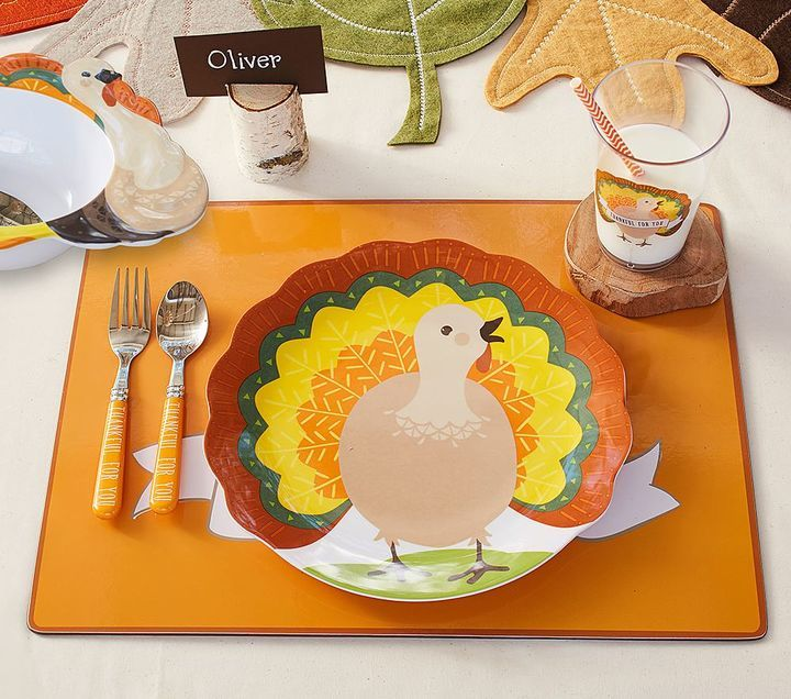 Love These Turkey Plates For Thanksgiving.