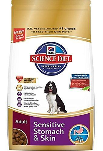 awesome Hill's Science Diet Adult Sensitive Stomach & Skin Dry Dog Food, 30-Pound Bag