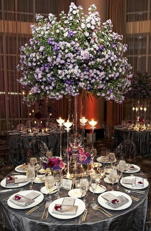Tablescape ● Lavender for magical # Purple Wedding ... Wedding ideas for brides, grooms, parents & planners ... https://itunes.apple.com/us/app/the-gold-wedding-planner/id498112599?ls=1=8 … plus how to organise an entire wedding ♥ The Gold Wedding Planner iPhone App ♥