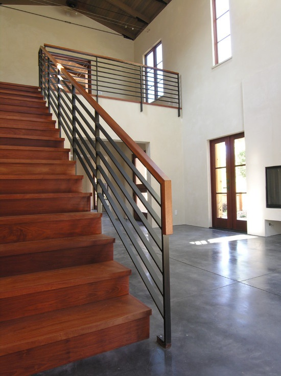 spaces galvanized steel railing design pictures remodel decor and ideas page 17