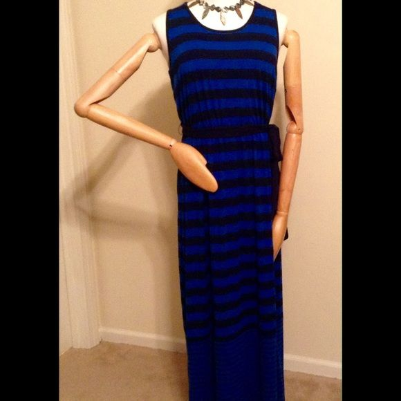 Pin-Striped Full length Dress Full length sun dress.  Please ask questions before purchasing. Faded Glory Dresses