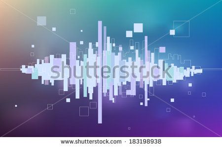 Abstract music equalizer - light background