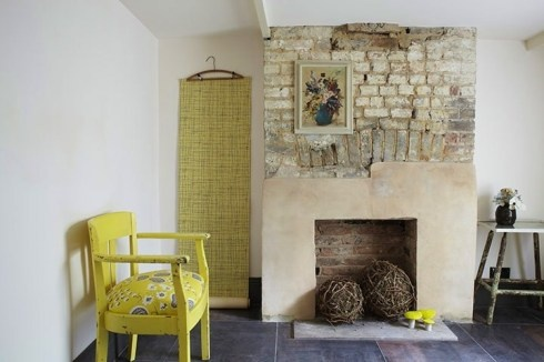 Love the way the fireplace has been partially rendered.