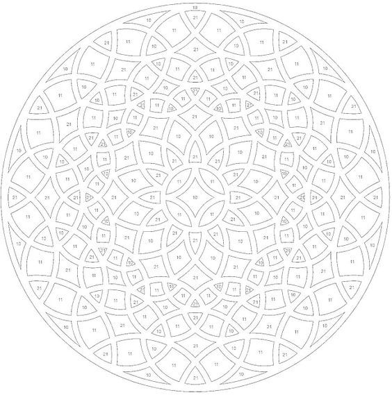 geometric colorbynumber mandala coloring pages colouring adult detailed advanced printable kleuren voor volwassenen coloriage pour adulte