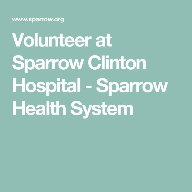 Volunteer at Sparrow Clinton Hospital - Sparrow Health System