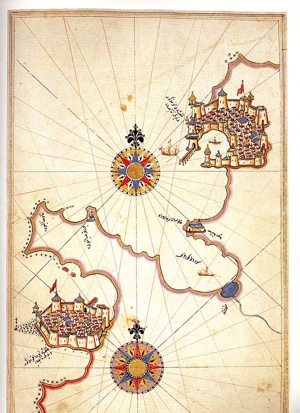 Map of Amorgos by Piri Reis