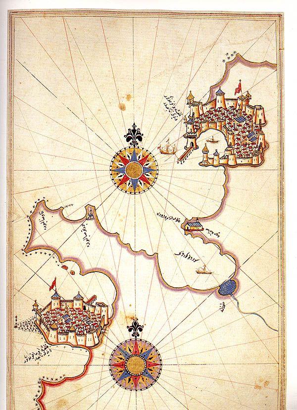 Map of Amorgos by Piri Reis