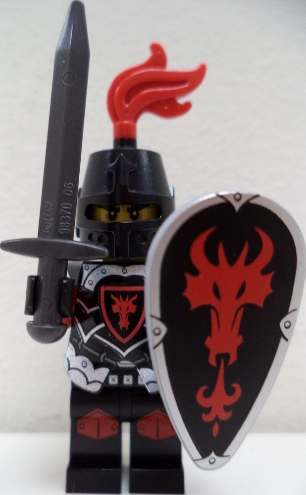 LEGO Dark Knight Minifigure with Armor//Shield and Sword