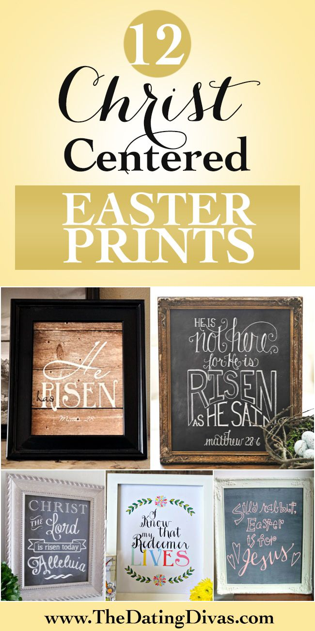 Christ-centered Easter wall art.  Some seriously gorgeous prints in here. www.TheDatingDivas.com