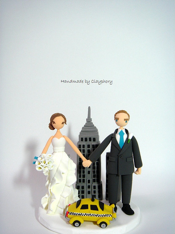 wedding cake toppers in new york new york city backdrop the customized 26513