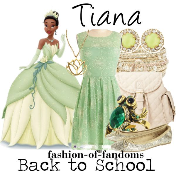 Tiana by fofandoms on Polyvore featuring Forever 21, Alcozer & J, Lipsy, Kate Spade, Mali Sabatasso and Disney