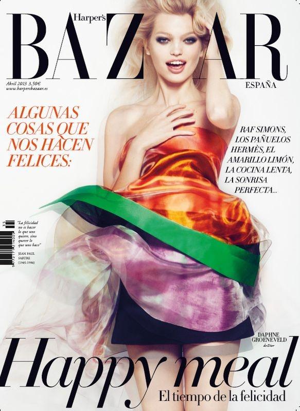 Daphne Groeneveld wears Dior by Txema Yeste for Harper's Bazaar Spain, April 2013.