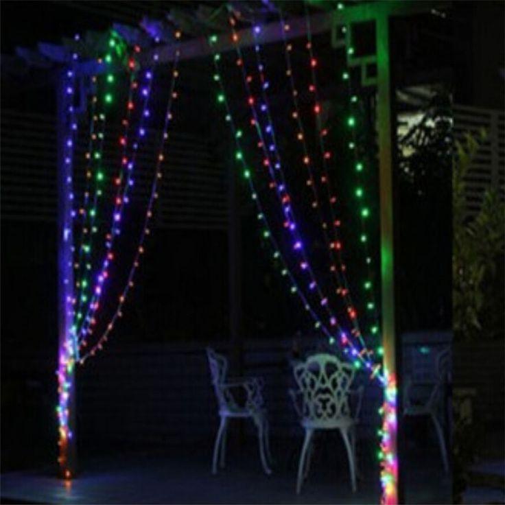 4 цветов 3 м x 3 м 300 из светодиодов рождественские занавес фары сша PU 100 В - 240 В рождество строка фея свадебное занавес icicel свет освещение 8 режима