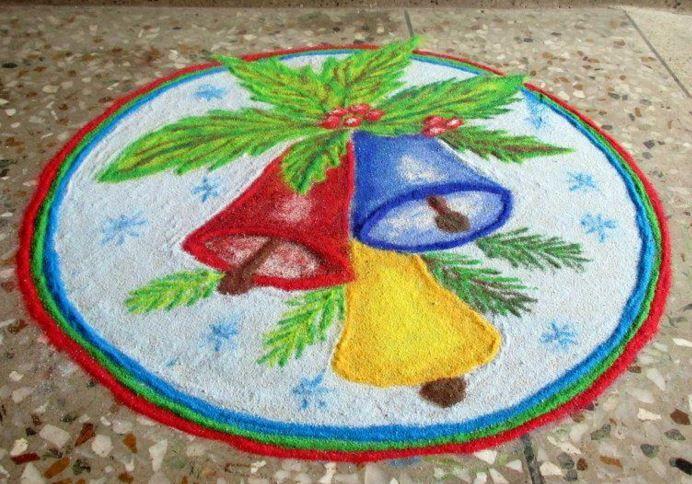 Rangoli for Christmas Competition