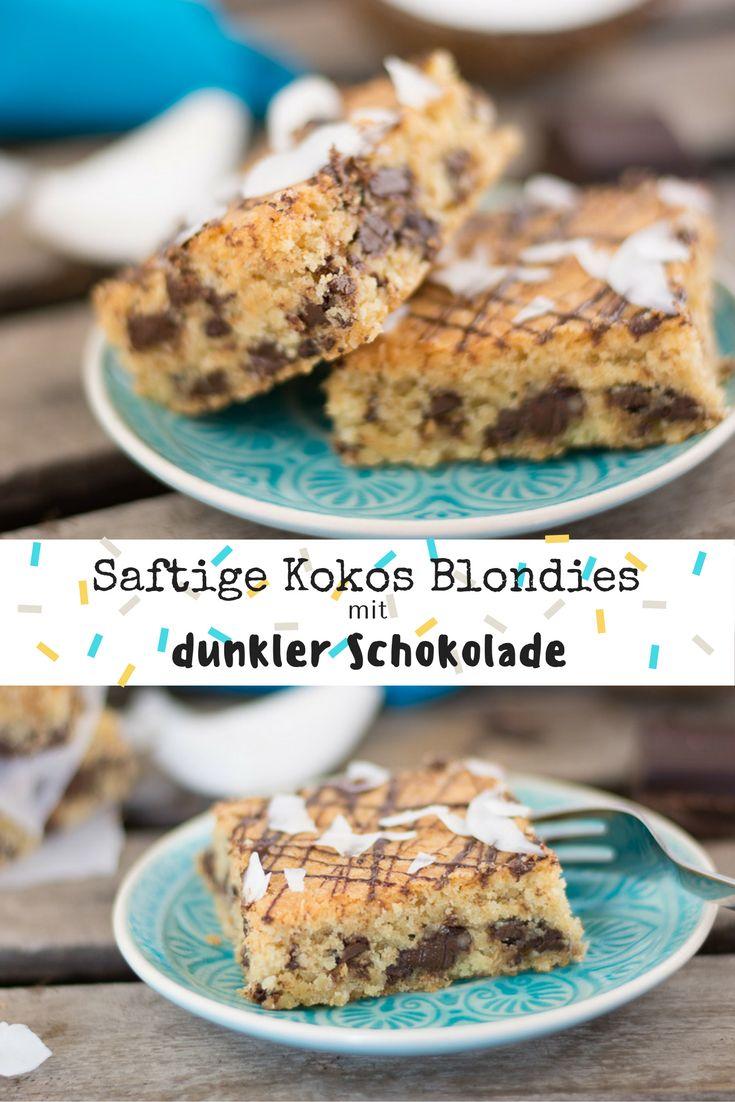 Brauner Zucker, Kokosraspeln und viiiiiiiel dunkle Schokolade - das perfekte Gebäck um an regnerischen Herbsttagen gute Laune zu verbreiten.