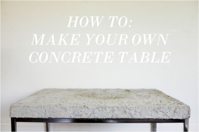 irrelephant: how to: diy concrete coffee table | diy | pinterest