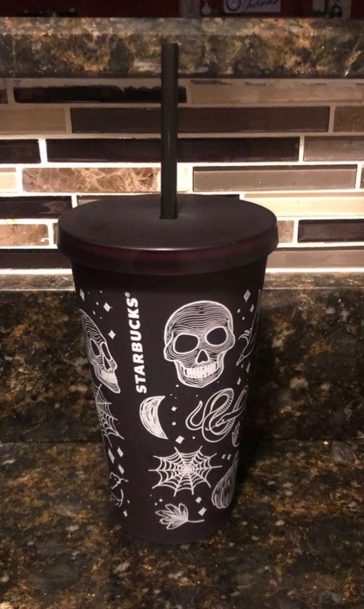 Starbucks skull Halloween tumbler. Fall 2019, hard to find