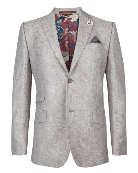 BALET - Wool blazer - Silver | Men's | Ted Baker
