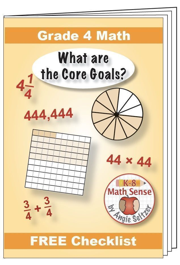 """Grade 4 FREE """"I Can"""" Leaflet of Goals for Common Core Math   Pinterest"""