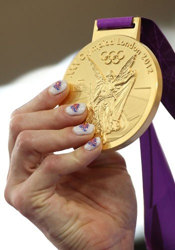 Victoria Pendleton's GB Olympic nails