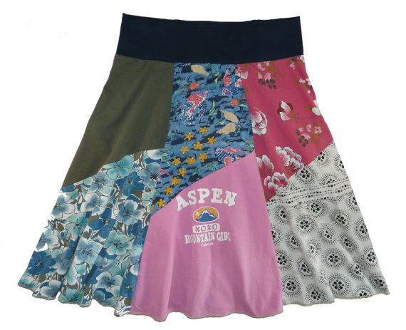 Aspen Hippie Skirt Women's Boho Chic Medium Large by twinklewear