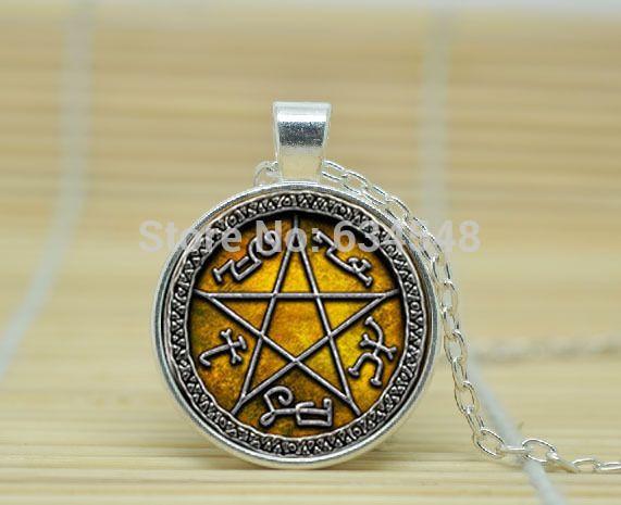 1pcs Supernatural Devils Trap pendant jewelry Glass Cabochon Necklace A3930