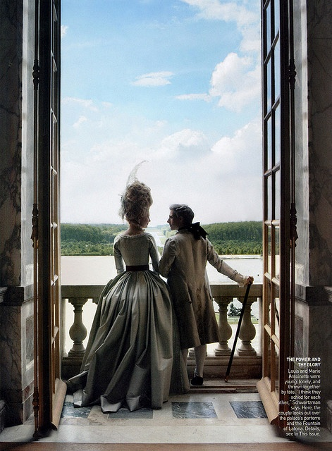 Vogue shoot by Annie Leibovitz in Versailles