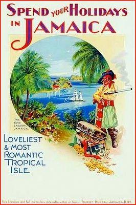 Vintage Jamaica Travel Poster
