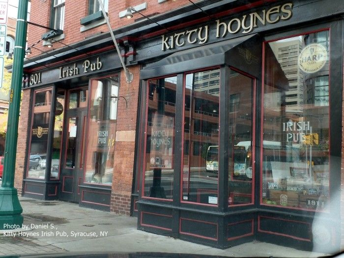 11. Kitty Hoynes Irish Pub & Restaurant, Syracuse   Opening back in 1999, this traditional Irish pub is everything you're looking for. Bringing to you live Irish music and the most inviting atmosphere, this is a great place to relax after a long work day. If you're asking us, we'd suggest trying the delicious Shepherd's Pie!