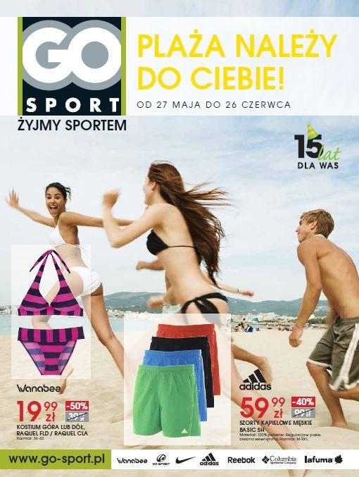 Od 27 maja do 26 czerwca w sklepach sieci GO Sport trwa specjalna akcja promocyjna pod hasłem: Plaża należy do Ciebie. W tym czasie GO Sport zamieni się w prawdziwy plażowy raj, gdyż produkty przeznaczone na plażę i do uprawiana sportów wodnych będzie można kupić w wyjątkowo atrakcyjnej cenie. Niektóre promocje sięgają nawet 50%. #galeriamokotow #fashion #zakupy #sale #Galmok #Gosport #sport