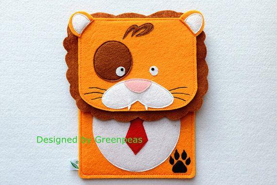 GP Animal Family Cute Lion Felt iPad Mini by GreenpeasHandmade, $28.00