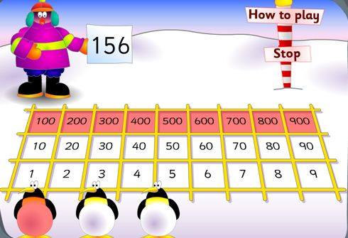 Fun and FREE penguin place value computer game. Offered at 2 different levels! G…
