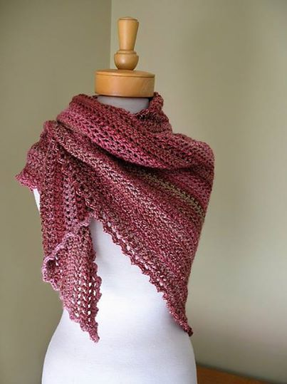 "FREE Pattern! The ""Morning has Broken"" shawl from Kelly Surace is a perfect beginner project. So pretty. Will make a lovely addition to my shawl pile for Breast Cancer patients... ~ free pattern ᛡ <3 <3 <3 http://www.madewithloveuumc.com/patterns/MorningHasBrokenShawl.pdf Shawl in photo by: eclecticmoi"