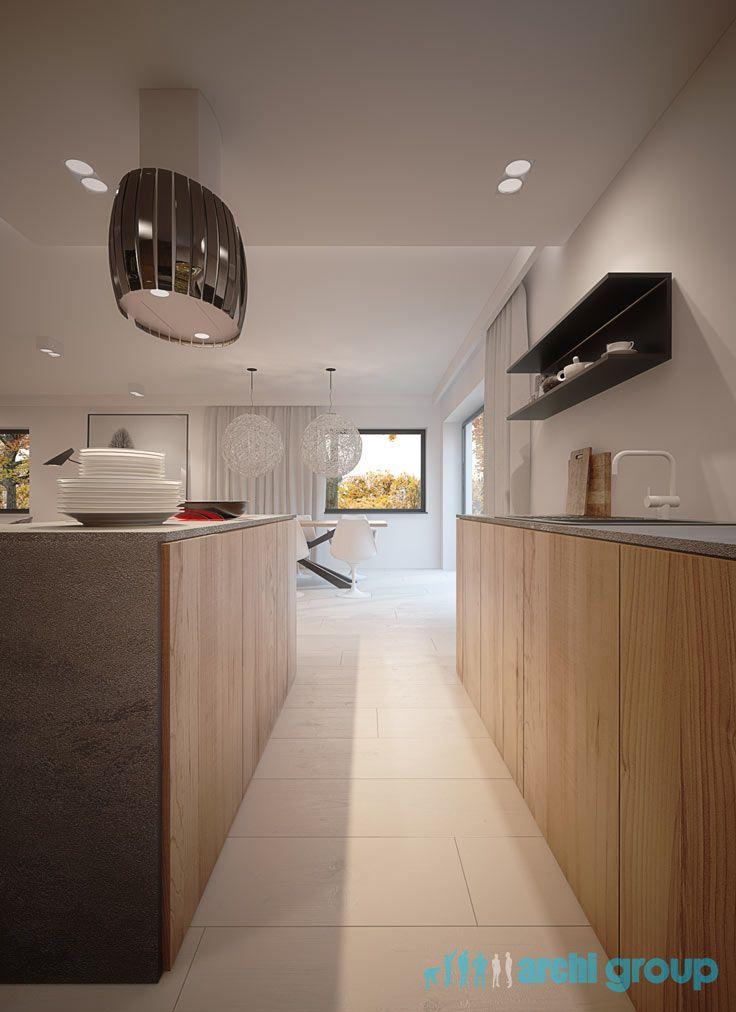 Kitchen design in Sosnicowice POLAND - archi group. Kuchnia w domu jednorodzinnym w Sośnicowicach.