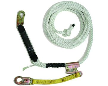 Guardian Fall Protection Standard Vertical Lifeline  w/ 3 Strand White Polydac™ Assembly available at http://buymbs.com