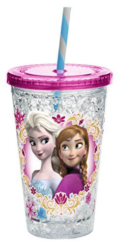 Zak Designs Chill Insulated Tumbler with Screwon Lid and Straw with Elsa  Anna from Frozen 145Ounce BPAfree *** Check out this great product.(This is an Amazon affiliate link)