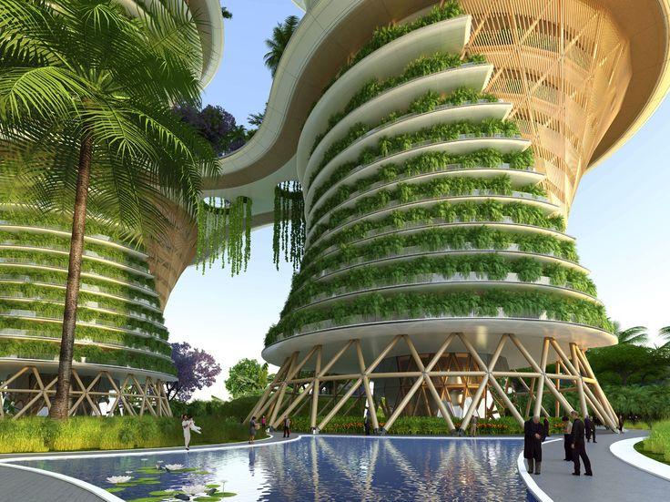 ARCHITECTURE - Et si, dans 10 ans, nous vivions dans des tours en bois et mangions des fruits et légumes produits sur nos balcons? C'est l'idée derrière le dernier projet de l'arc