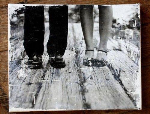 DIY Vintage Canvas Of Your Favorite Photos