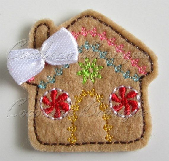 Gingerbread House feltiemini by CocobeanBoutique on Etsy, $3.00