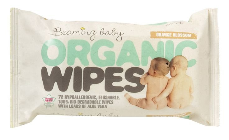 Organic baby wipes on the go for baby Piper. (bathing/diaper changes)