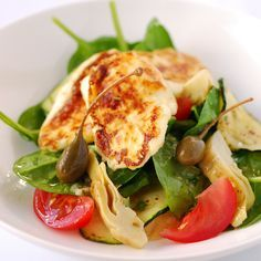 halloumi cheese - note: this type of cheese is meant to be pan fried until golden brown