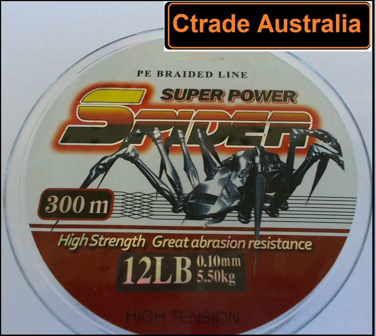 Fishing Line Braid 12lb 5.5kg Super Power Spider Pe Braided Line 300m Spool New!