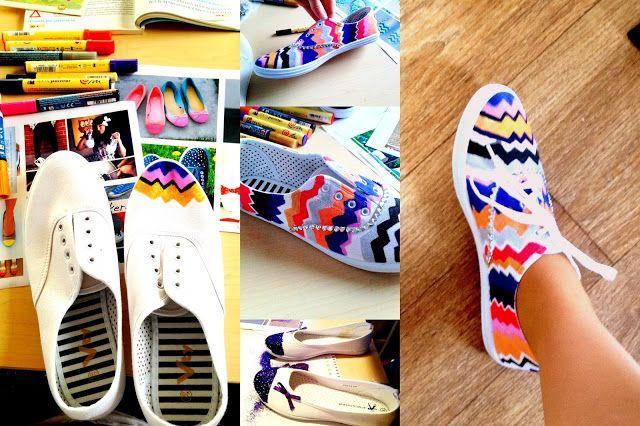 Stephanie's Anthropology: DIY: Schoenen pimpen