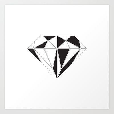Diamond Art Print by Klaff Design - $15.00