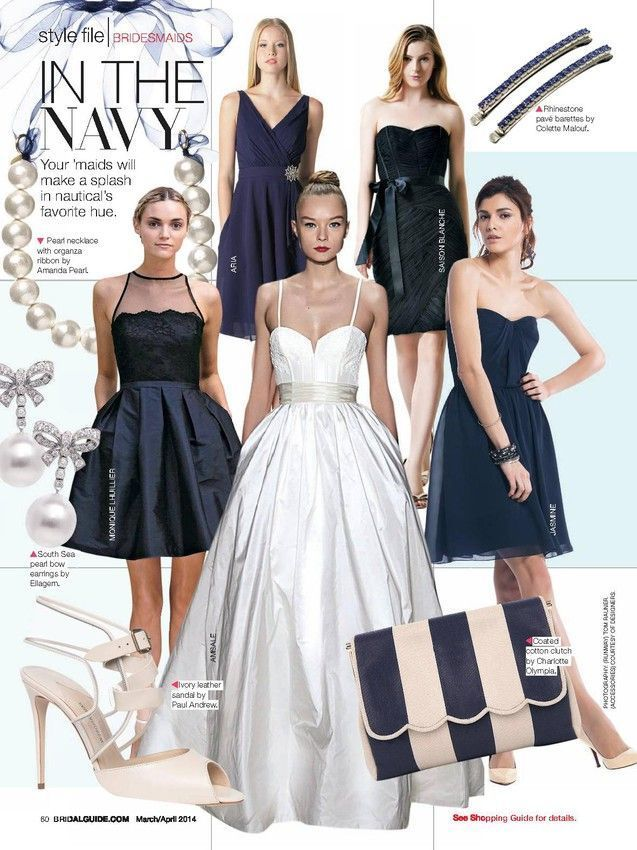 "Our ""Cameron"" gown looking pretty in @Bridal Guide Magazine"