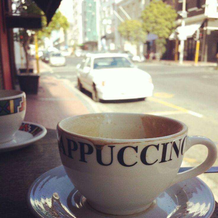 Sipping a cappuccino #capetown