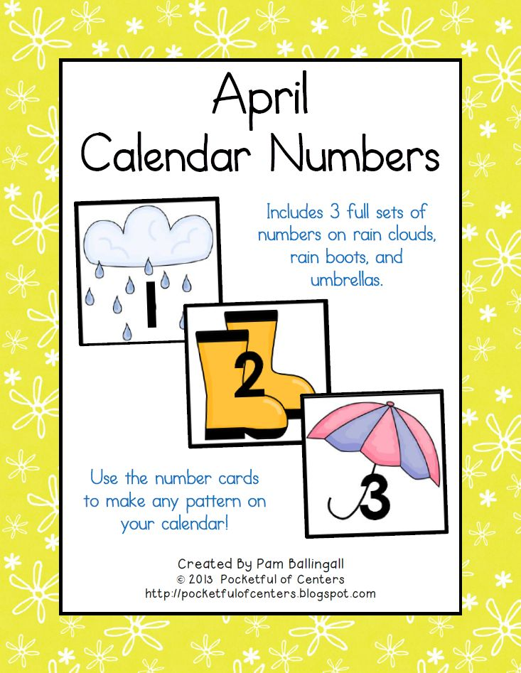 April Calendar Numbers : Best images about kindergarten morning meeting